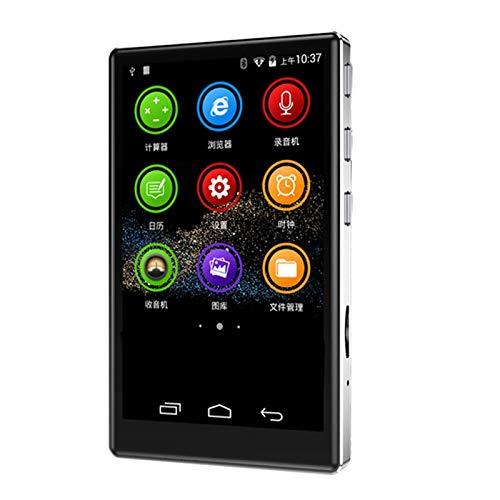 Tamkyo Reproductor MP4 HD de Pantalla Completa de 4 Pulgadas WiFi Android 6.0 MP3   4 2 + 16GB 5.0 Reproductor de MúSica de Contacto Radio FM