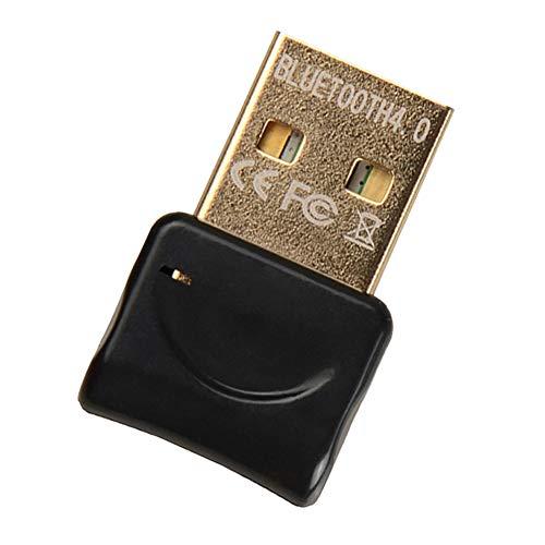 Adaptador Bluetooth para PC, USB 4.0 Bluetooth Dongle Transmisor Receptor Inalámbrico para Auriculares Altavoz Teclado Computadora Portátil Estéreo Mouse Compatible con Win 7 8 10 XP Vista (NEGRO)