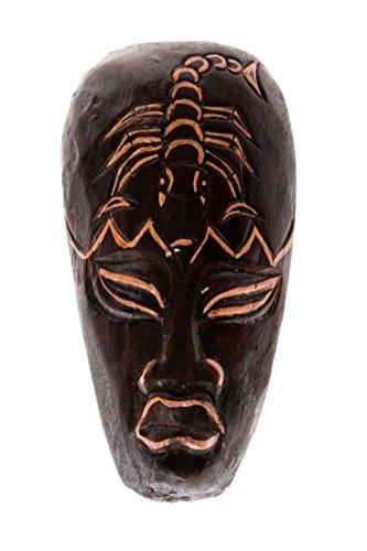 20cm Madera Maske Mascara Careta caratula Esculture Figura Africa escorpion HM2000008