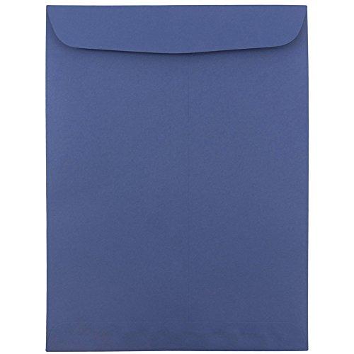 JAM PAPER 9 x 12 Open End Catalog Premium Envelopes - Presidential Blue - 10/Pack