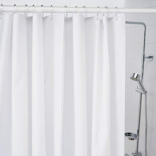 IKEA BJARSEN - Cortina de ducha (180 x 200 cm), color blanco