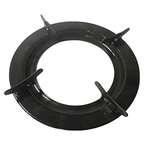 SOLUSTRE Wok Rack de Hierro Fundido Antideslizante Wok Ring Heavy Duty Rack Estufa de Gas Accesorios para Estufa de Gas Cocina de Gas 22. 7Cm