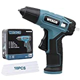 Cordless Glue Gun, WESCO 3.6V Hot Glue Gun with 10pieces Glue Stick 7mm, Micro USB Charge with Indicator, Fast Heat Up, Safe Anti-Leaking Nozzle for DIY, Gift Wrapping, Craft, Repairs/WS2020K
