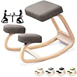 Kneeling Chair Stool,Wood Knee Stool Ergonomic Correcting Hunchback Protection Leisure Fitness Chair Yoga