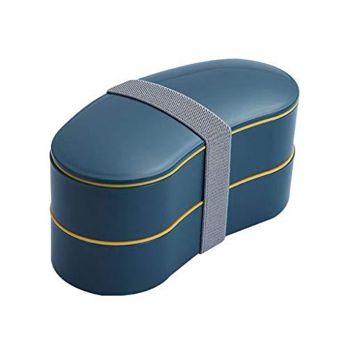 YU-HELLO _Caja Bento de doble capa, caja de Bento sellada a prueba de fugas, fiambrera para estudiantes y trabajadores de oficina