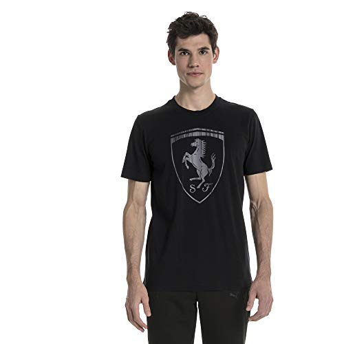 PUMA Ferrari Herren Big Shield T-Shirt Puma Black L
