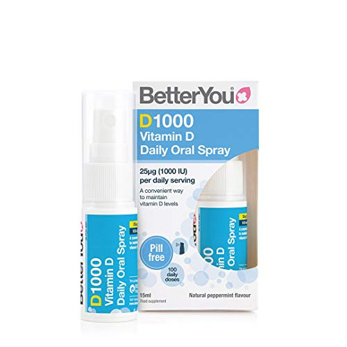 Better You Dlux 1000 Vitamin D Spray 15ml (Pack of 2)