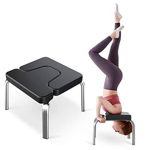 OUNUO Headstand Stool-Double Protective Yoga Inversion Chair-Steel Frame Headstand...