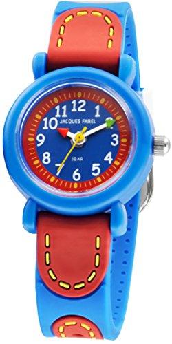 Jacques Farel kinderhorloge voor kleine kinderarmen blauw/rood KFW 1000