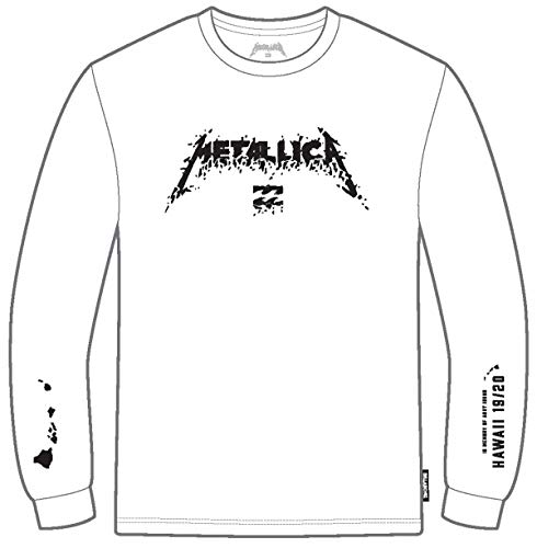 BILLABONG Sweatshirt AI Metallica LS White L