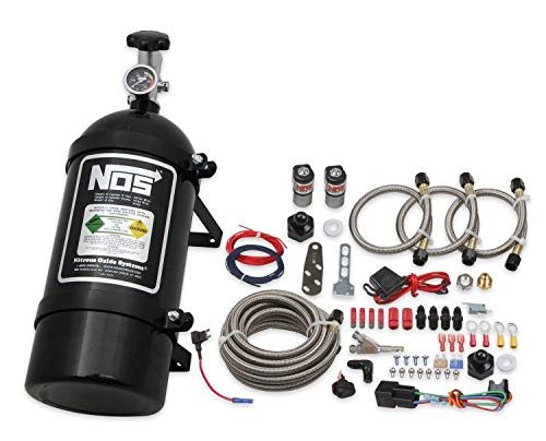 NOS 06015BNOS NOS Single Fogger Wet Nitrous System for 2006-2017 GM V6 and V8 Engines - Black