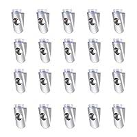 uxcell シェルフサポートペグ 4mmブラケットペグ サクションカップ付き家具キャビネットシェルフ 20個入り