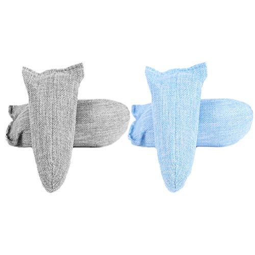 SUPVOX Geruchsentferner Schuhe Bambuskohle Beutel schuhe Geruchsentferner Desodorierungsmittel Schuhdeodorants (Blau Grau)4 Pcs
