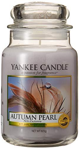 Yankee Candle Vela perfumada grande en tarro de cristal, duración de combustión de hasta 150 horas.