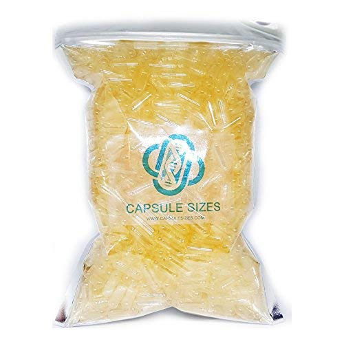 Cápsulas de gelatina vacias tamaño 00# (1000 uds.)