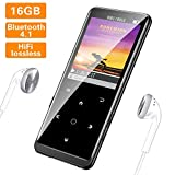 SUPEREYE MP3 Player, 16G Portable Lossless Sound MP3 Players with Bluetooth 4.1, Backlit