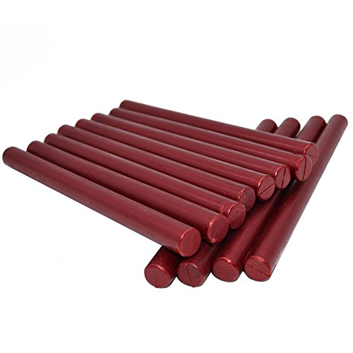 "Sealing Wax Rod Blood Red for Standard Size Glue Gun - 5.4""(L)"