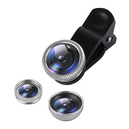 3 in 1 iPhone Camera Lens Kit - 180 graden Visoog Lens Fisheye Lens + 0.67X groothoeklens + Macro Lens