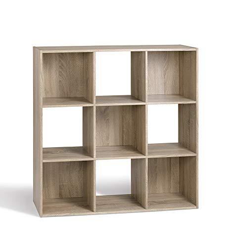 Compo ER rek, 9 vakken, boekenkast, kubusvorm Hedendaagse 92 x 30 x 92 cm Bruin