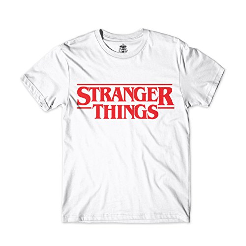 Camiseta Stranger Things (L, Blanco)
