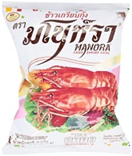 Manora Fried Shrimp Chips 35g./ 1.23 Oz.(pack of 3)
