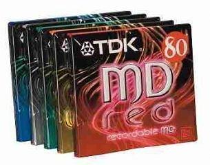 TDK MD 74 Minidisc 5PK (colour), Importado de UK