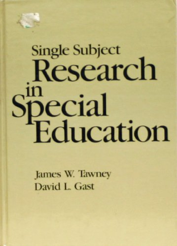 Single Subject Research in Special Education
