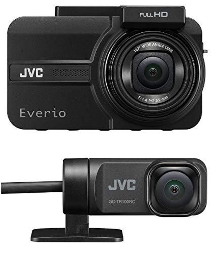 JVC KENWOOD GC-TR100-B 前後撮影対応2カメラドライブレコーダー Everio フルハイビジョン GPS搭載 WDR mic...