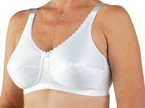 Post Mastectomy Nylon Knit Fiberfill Bra White