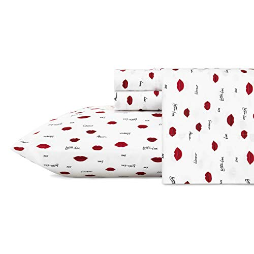 """100% Microfiber Construction - with a soft and silky feel Set includes: One flat sheet (102""""L x 104""""W), one fitted sheet (80""""L x 78""""W) and two pillowcases (20""""L x 40""""W) Fully elasticized fitted sheet prevents slipping from mattress and ensures a perf..."""