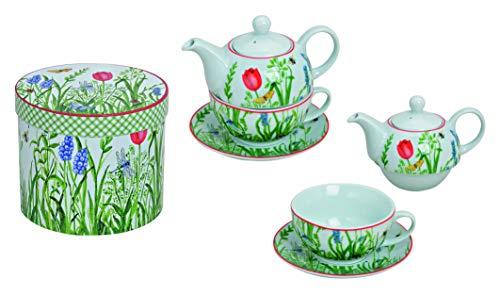 Tea for One Set, Motiv Frühlingsblumen