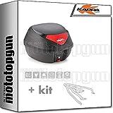 kappa maleta k29n 29 lt + portaequipaje monolock compatible con triumph bonneville t100 2020 20