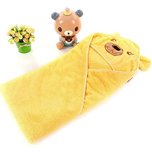 NOBUNO Bebé recién Nacido Invierno cálido Saco de Dormir swaddling swaddling shap Wrap Lindo Suave Pulver de sueño Swaddle Infantil niños Accesorios 1-3 años,Amarillo