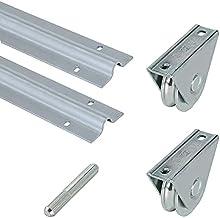 Metalideal | Torset, rond, 20 mm | 2 rails 20 mm, 1 verbindingsstuk, 2 rollen of kiezelstenen