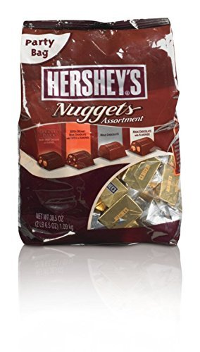 Hershey's Nuggets Chocolate-Assortment New Super Size Package- 4lbs -77 Ounces