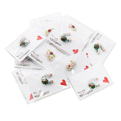 20les cadeaux avec bonne chance pierre + Carte de vœux Cœur
