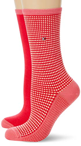 Tommy Hilfiger womens TH 2P HONEYCOMB Socks, rose red, 35/38 (2er Pack)