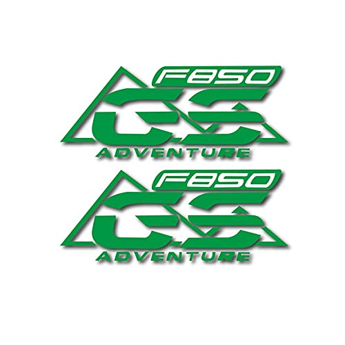 Pegatina de Almohadilla para B-M-W F850GS Adventure F850 GS Motocicleta Bicicleta Tanque De Combustible Pegatina Rueda Casco Impermeable Reflectante (Color : Green)