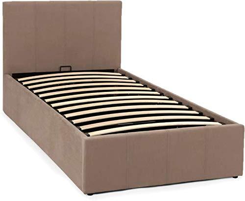 Wrought Studio 100% Velvet Espirdo Upholstered Ottoman Bed White Oak