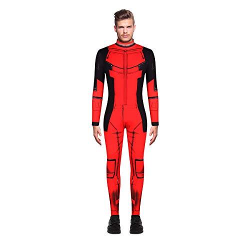Leezeshaw The Flash Deadpool Superman-Kostüm für Herren, Halloween, 3D-Superheld, grüne Laterne, Lycra-Einteiler, Kostüm für Erwachsene, M-XXL