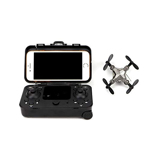 KALALY 2020 New Generation Mini Drone ,Folding Aerial Remote Control Aircraft, with Suitcase and 720p Camera Gesture Camera Smart Follow Long Battery Life for Novice,Graffiti. Camping (with Suitcase)