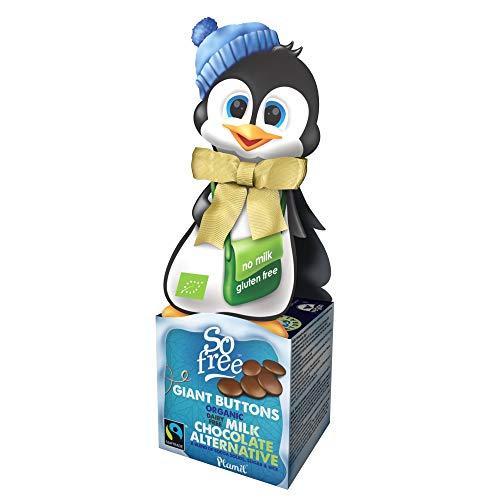 Plamil Schokoladen Drops Pinguin Geschenkbox - 65 g laktosefreie, vegane Weihnachts Schokolade