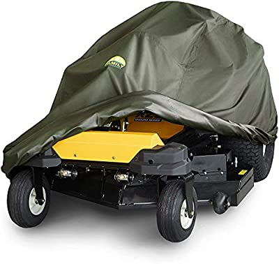 Family Accessories Zero Turn Lawn Mower Cover, 100% Waterproof Heavy Duty 600D Storage for Riding ZTR Lawnmower Tractor, 60+ Inch Deck, Large 80Lx62Wx55H