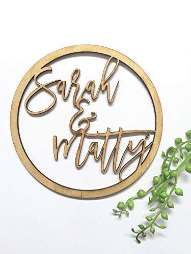 Prénom couronne en bois personnalisable mariage anniversaire baptême invitation naissancefabriqué en France