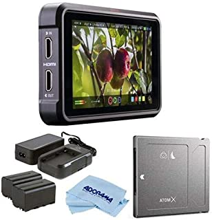 "Atomos Ninja V 5"" Touchscreen Recording Monitor, 1980x1080, 4K HDMI Input - Bundle Power Kit, Angelbird AtomX SSDmini 1TB ..."