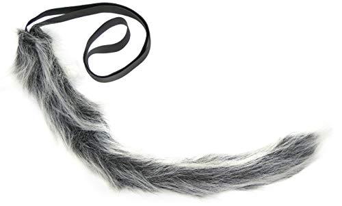 Balinco Wolfsschwanz | Werwolf Schwanz | | Wolf Schwanz für Damen & Herren als Accessoires für Ihr Wolfskostüm zum Karneval