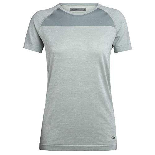 Icebreaker Motion Seamless T-Shirt Manches Courtes à col Ras-du-Cou Femme, Shale Heather Modèle L 2020 Tshirt Manches Courtes