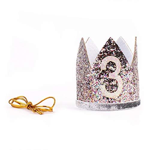 3ème anniversaire Couronne bébé fille Sparkle Diadème Princesse Bandeau Chapeau de fête Bandeau Cheveux Accessoires Photo Prop