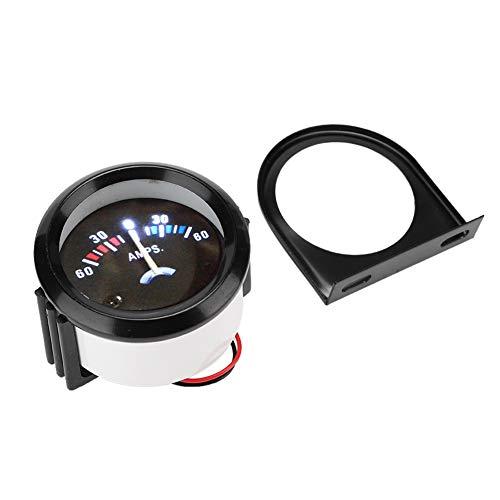 Kuuleyn AC Amperemeter, 2 Zoll 52 mm Auto Amperemeter Voltmeter 60-0-60A AMP Gauge Volt Meter für Modifikation Passend für die meisten Auto Modifikationen