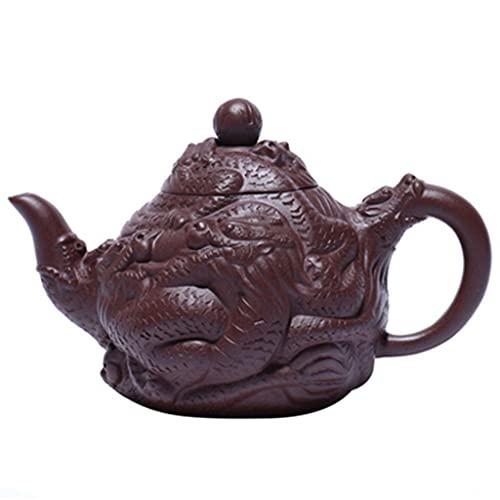 PIANAI Juego de té de Tetera Antigua/Tetera de Arcilla púrpura Hecha a Mano de Arcilla púrpura de Mineral Crudo/Tetera Jiulong ZUN/Juego de té Diaolong